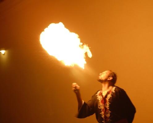 Fire show Dubai